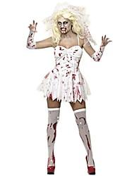 Une Pièce/Robes Costumes de Cosplay Zombie Cosplay Fête / Célébration Déguisement d'Halloween Rétro Robes Manche CoiffuresHalloween