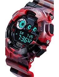 Men's Smart Watch Digital Rubber Band Red Green Grey Yellow