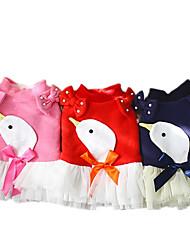 Chien Robe Vêtements pour Chien Décontracté / Quotidien Nœud papillon Bleu de minuit Rouge Rose