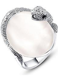 Жен. Кольца для пар Кольца на вторую фалангу Классические кольца ОпалБазовый дизайн Pоскошные ювелирные изделия Классика Elegant Мода По