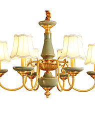 All Copper Chandelier Jade DecorativeLiving Room Chandelier 6A