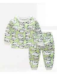 Baby Kids' Casual/Daily Geometic Clothing Set Fall Winter
