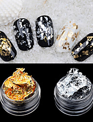 Gold and Silver Foil Nail Stickers Ornament Crystal Phototherapy Foil