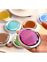 кристалл компактный зеркало алмаз портативный косметический карман зеркало увеличительное зеркало свадебные подарки ramdon цвет