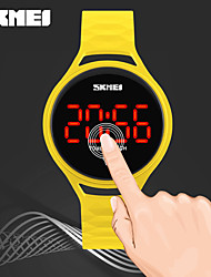 SKMEI Women's Kid's Digital Watch Chinese Digital LED Touch Screen Water Resistant / Water Proof Noctilucent PU Band Cool CasualBlack
