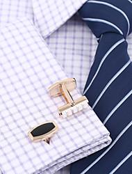 Gemelo Pasador   Pasador Moda Cajas y Bolsas de Regalo Gemelos Hombre Negro Oro Rosa