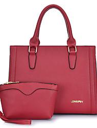 Damen Bag Sets PU Ganzjährig Normal Baguette Bag Reißverschluss Blau Schwarz Rote Fuchsia