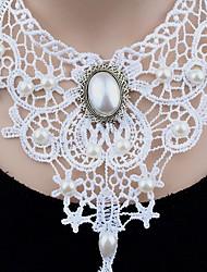 Women's Choker Necklaces Pendant Necklaces Statement Necklaces Imitation Pearl Circle Round Synthetic Basic Unique Design Dangling Style