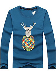 10 Colors M-6XL Men's Sports Plus Size Casual Simple Sport Summer Fall T-shirtPrint Round Neck Long Sleeves T-shirt With Sambar You're Worth It