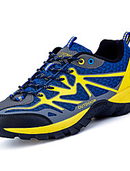 Men's Athletic Shoes Comfort Spring Fall Tulle Hiking Shoes Outdoor Lace-up Flat Heel Dark Blue Light Green Royal Blue Ivory 2in-2 3/4in
