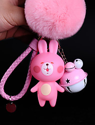 Bag / Phone / Keychain Charm Bear Cute Jingle Bell Cartoon Toy Fur Ball Phone Strap PVC