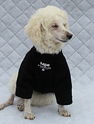 Dog Hoodie Dog Clothes Casual/Daily Letter & Number Black White
