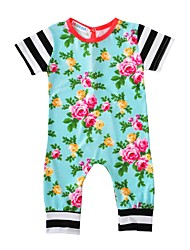 Baby Floral One-Pieces Cotton Spring/Fall Summer Short Sleeve Newborn Baby Boys Girls Romper Infant Kids Fashion Bodysuits