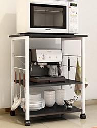 Multi - shelf Multi - purpose Kitchen Racks Kitchen Plastic Metal Shelf