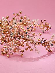 Imitation de perle Strass Alliage Casque-Mariage Occasion spéciale Anniversaire Fête/Soirée Tiare Serre-tête 1 Pièce