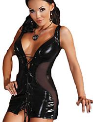 Disfraces de Cosplay Más Vestidos Festival/Celebración Traje de Halloween Negro Zentai Carnaval / Año Nuevo Mujer Cuero Patentado