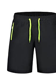 Hombre Sencillo Activo Tiro Medio Inelástica Pantalones de Deporte Shorts Pantalones,Corte Ancho Un Color