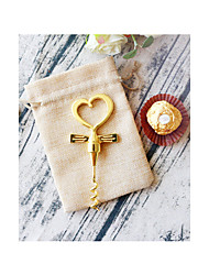 Heart Bottle Opener in Burlap Bag 50th Wedding Anniversary Favors Beter Gifts® Life Style