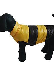 Собака Жилет Одежда для собак На каждый день Спорт Цветовые блоки Оранжевый Желтый Кофейный Синий