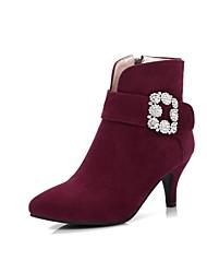 Feminino Botas Conforto Inovador Botas da Moda Curta/Ankle Solados com Luzes Sapatos formais Outono InvernoPele Nobuck Materiais