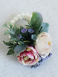 Wedding Flowers Grace Wrist Corsages Wedding / Special Occasion Bead / Fabric The Bride's Wrist Flower 1 Piece