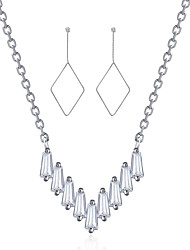 Beadia Women's Jewelry Set 925 Sterling Silver Necklace & Earrings