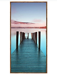 Landscape Framed Oil Painting Wall Art,PS Material With Frame For Home Decoration Frame Art Living Room Dining Room 1 Piece