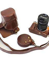 Dengpin pu кожаный чехол для камеры сумка для olympus e-pl8 epl8 14-42 40-150 объектив (различные цвета)