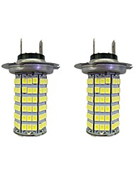 4w h7 120smd2835 phare / lampe antibrouillard pour voiture blanc dc12v 2pcs