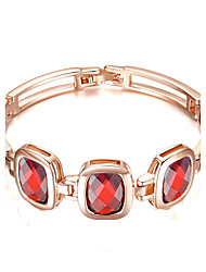 Femme Chaînes & Bracelets Zircon cubique Mode Plaqué or Bijoux Pour Soirée