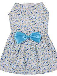 Chien Robe Vêtements pour Chien Décontracté / Quotidien Nœud papillon Bleu Rose
