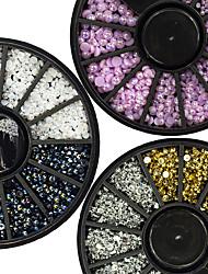 3 Manucure Dé oration strass Perles Maquillage cosmétique Nail Art Design