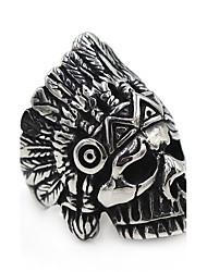 Жен. Муж. Кольца на вторую фалангу Цирконий Базовый дизайн Богемия Стиль Хип-хоп Классика Нержавеющая сталь В форме черепа Бижутерия