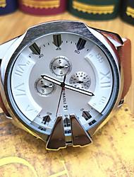 JUBAOLI Hombre Reloj Deportivo Reloj de Moda Reloj de Pulsera Chino Cuarzo Calendario Cronómetro Esfera Grande Acero Inoxidable BandaCool