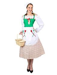 Costumes de Cosplay Tenue Fête d'Octobre/Bière Cosplay Fête / Célébration Déguisement d'Halloween Rétro Robes Casque Fête d'Octobre