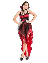Une Pièce/Robes Costumes de Cosplay Vampire Cosplay Fête / Célébration Déguisement d'Halloween Rétro Robes Châle Halloween Carnaval