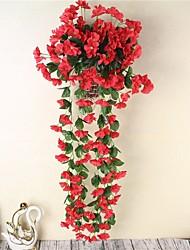 1 Peça 1 Ramo Poliéster Violeta Guirlandas & Flor de Parede Flores artificiais