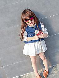 Girls' Color Block Sets,Others Summer Short Sleeve Clothing Set