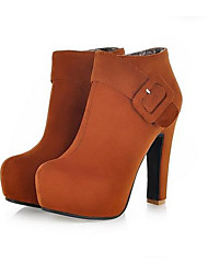 Damen Schuhe PU Herbst Komfort High Heels Mit Für Normal Schwarz Gelb Rot Blau