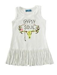 Baby Print Dress Cotton Summer Tassel Vest Kids Baby Girls Dress for Infant Girls