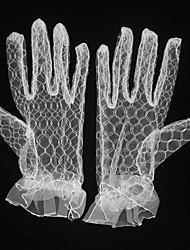 Longueur Poignet Bout des Doigts Résille Gant Grille respirante transparent Maille Gants de Mariée Gants de Fête / Soirée Automne Eté
