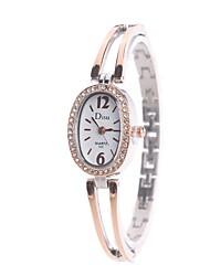 Mulheres Relógio Elegante Relógio de Moda Relógio de Pulso Simulado Diamante Relógio Chinês Quartzo imitação de diamante Lega Banda Heart