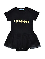 Baby Romper Lace One-Pieces Cotton Summer Short Sleeve Queen Letter Girls Jumpsuits Bodysuits Kids Clothes
