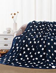 Coral fleece Geometric Cotton Blend Blankets