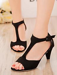 Damen Schuhe PU Sommer Komfort Sandalen Mit Für Normal Schwarz Rot Rosa