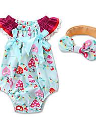 малыш 1 предмет Хлопок Мода Геометрический принт Лето Краткое Пант