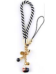 Sac / téléphone / porte-clés charme sangle téléphone chat chanceux dessin animé jouet cuivre métal chinois style