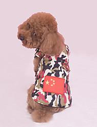 Cachorro Colete Roupas para Cães Casual Bandeira Nacional Vermelho Azul