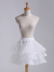 Wedding / Party Slips A-Line Slip / Ball Gown Slip Short-Length Polyester / Lace / Tulle Petticoats White