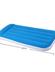 Children Inflatable Bed Selling Home Pillow Air Cushion Bed Flocking Inflatable Mattress